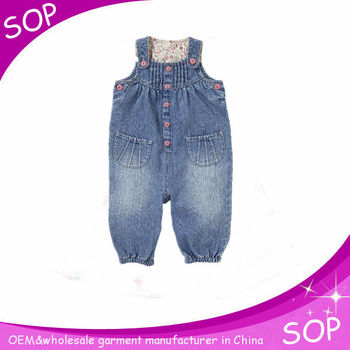 Kids autumn clothes denim overalls jumpsuits cow design baby jeans pants