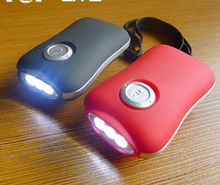 Top Quality 3 LED Crank Dynamo Flashlight