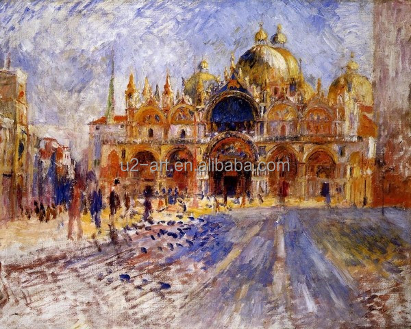 The Piazza San Marco by Pierre-Auguste Renoir famous oil painting
