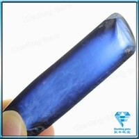 Lab Created Blue Gemstone Raw Material Lab Created Uncut Rough Sapphire