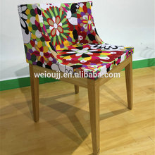 Beautiful Molded Foam Cover Metal Frame Dining Chair
