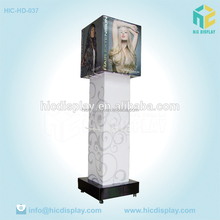 Unique Printed Cardboard Cutouts, POP Up Cardboard Hair Extension Display Stand with Hooks