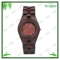 hand watch for girl new arrival simple design brown color wooden wrist watch women