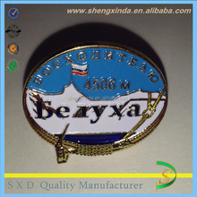 Casting Gold Plated Oval Metal La placa