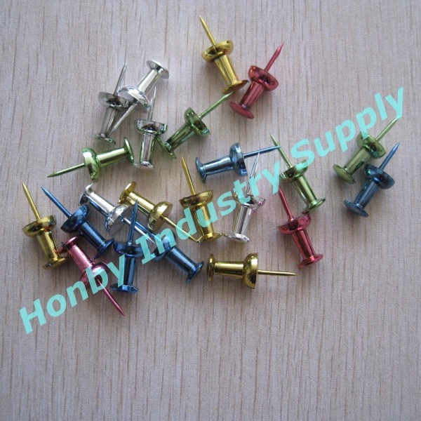 Wholesale For 23mm Assorted Metallic Colored Push Pins