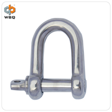 European Stainless Steel D Type Shackle For Sales