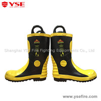 Fireman fire resistant safety boots,fire shoe