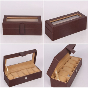 Harwoo Brand top selling PU watch case leather watch packaging box for gift