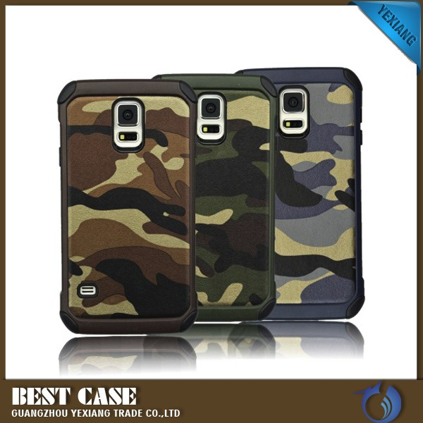 camo cell phone cases camouflage cover for samsung galaxy s5 i9600 rugged armor case