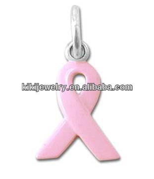 Breast Cancer Awareness Pink Ribbon Charm Jewelry