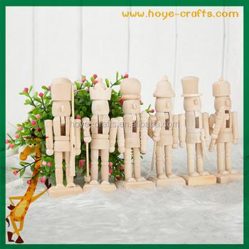 Handicrafts natural color nutcracker wooden christmas for Floor nutcracker