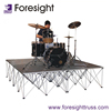 concert stage portable platform snow machine light stage
