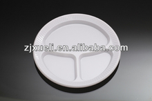 plastic separated plates,disposable divided plates,disposable plastic plate