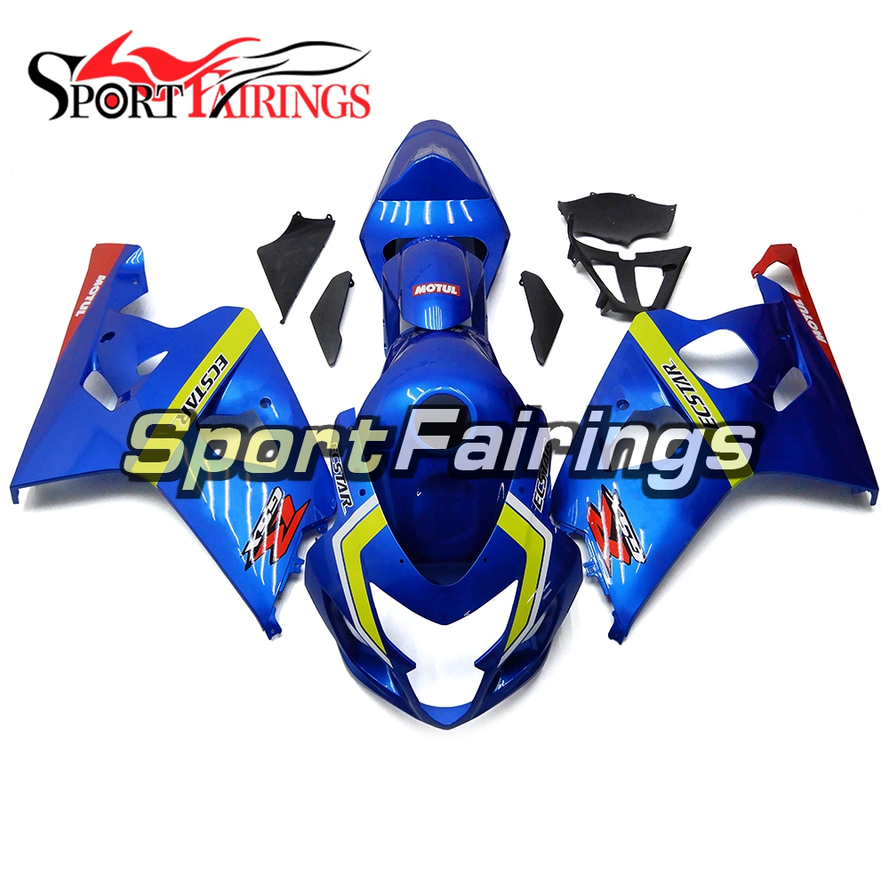 Blue Yellow Injection Fairings For Suzuki GSXR600 750 K5 k4 2004 2005 ABS Plastic Complete Motorcycle Fairing Kit