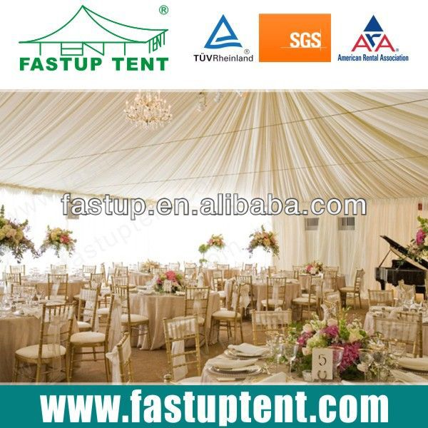 Luxury Wedding party tent with beautiful Linings and Curtain Whole Sale from Guangzhou,China