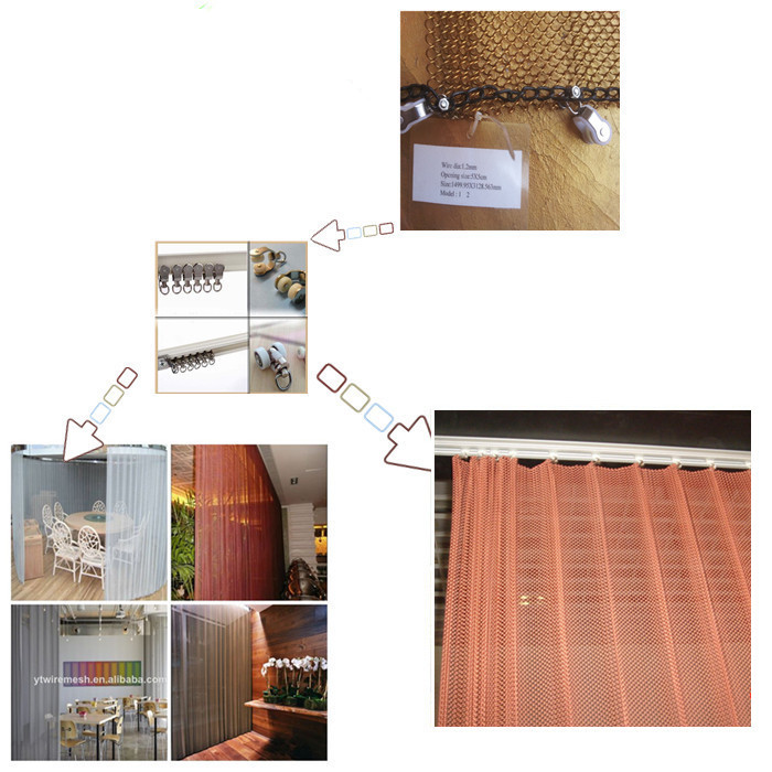 Aluminium chain link mesh drapery (Alibaba 8 years gold supplier)