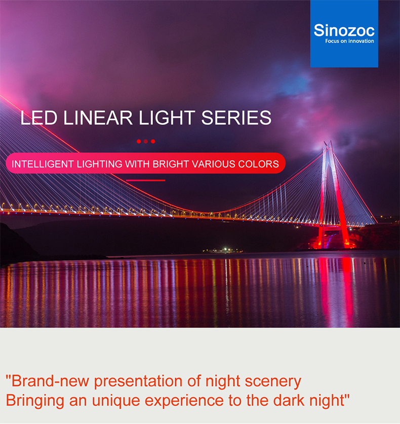 Sinozoc 12w ip65 linear rgb 36w led wall washer light outdoor