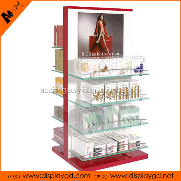 With LCD Cosmetics novel charming cosmetic display shelf