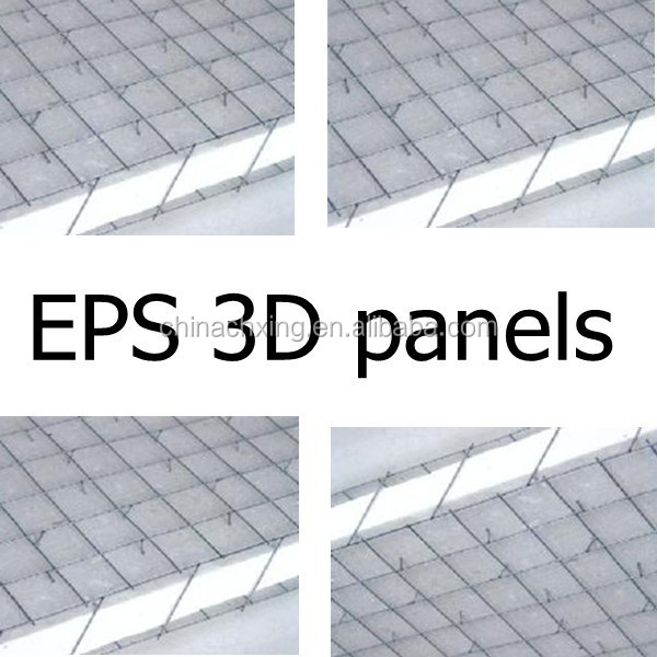 cheap EPS 3d weld wire mesh foam panels lightweight construction materials