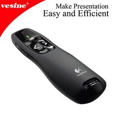 2.4G Logitech R400 Wireless Presenter Red Laser Pointer Remote Control Slide Show 15m