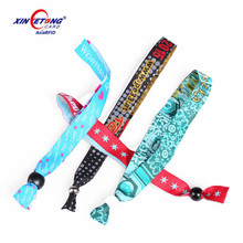 Cloth nfc wrist band MF 1K 4k rfid fabric event festival wristbands for access control ticket