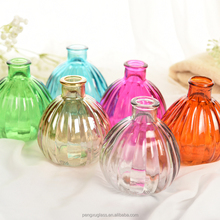 Empty reed diffuser glass bottle with rattan sticks for aroma oil container