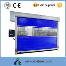 Transparent strip window in the middle cheap fast roller shutter door