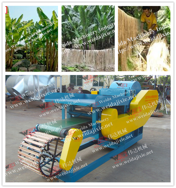 High Efficiency Automatic Banana Tree Decorticating Machine/Banana Fiber Extractor
