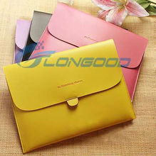 PU Leather Fashionable Pouch Bag Buckles Sleeve Cover Case for iPad 2,for ipad3