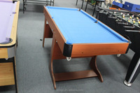 L shape folding leg High quality Kids portable pool table with fresh design