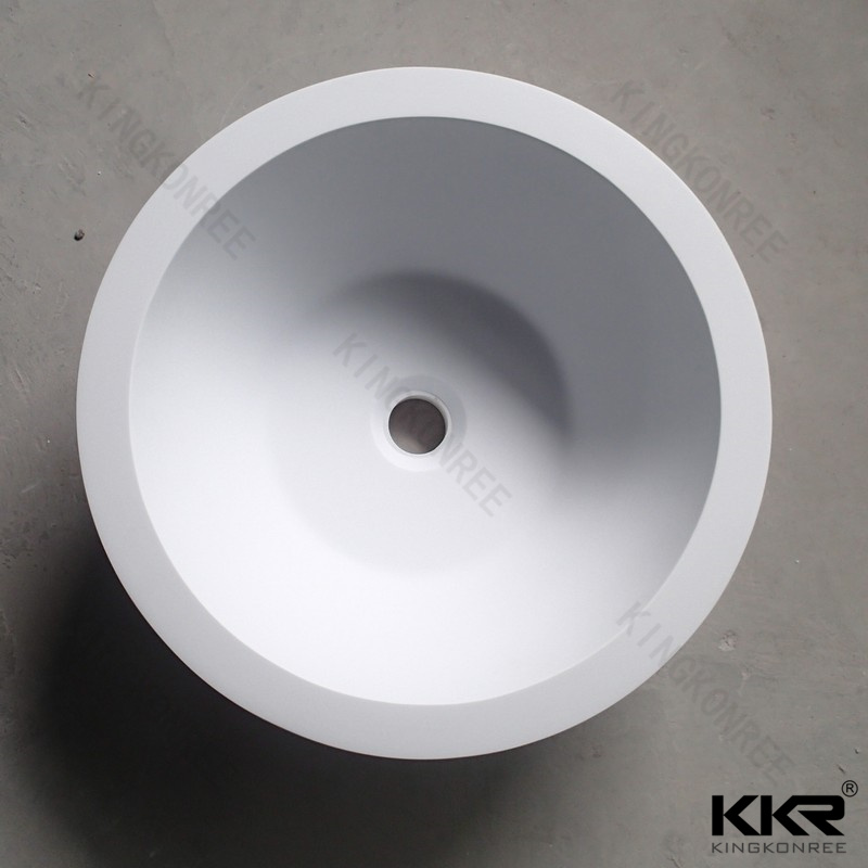 color polyester wash basin composite acrylic solid surface trough sink