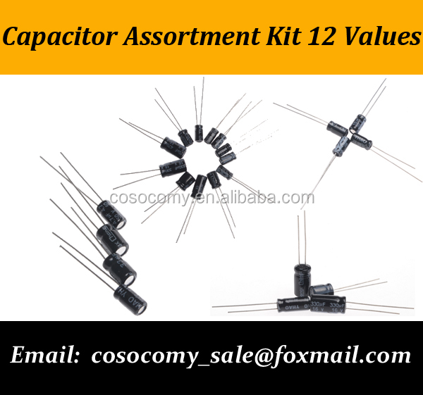 Capacitor Assortment Kit 12 values electrolytic capacitor