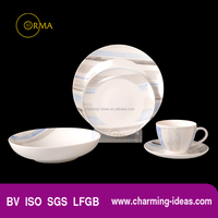 Supermarket Good Quatity Cheap Price Porcelain Ceramic Dinner Sets Made In China