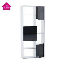 Tall Narrow Wood Bookcase with Glass Door Models JS-BC004