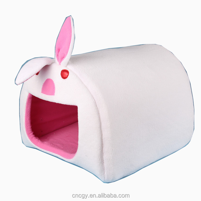 Pet Accessory Of Rabbit Animal Shape Small Dog Beds House Cat Bed