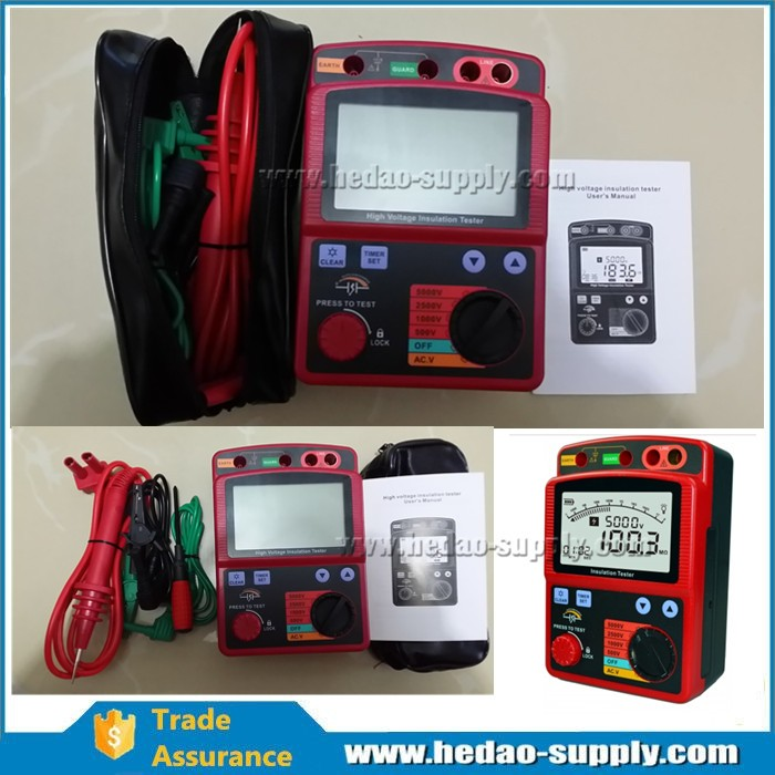 HD3125 insulation tester megger for easy-to-operate