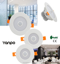Adjustable Motion Sensor Downlight PIR Infrared Control AC 85-265V Cool White Recessed LED Ceiling Light