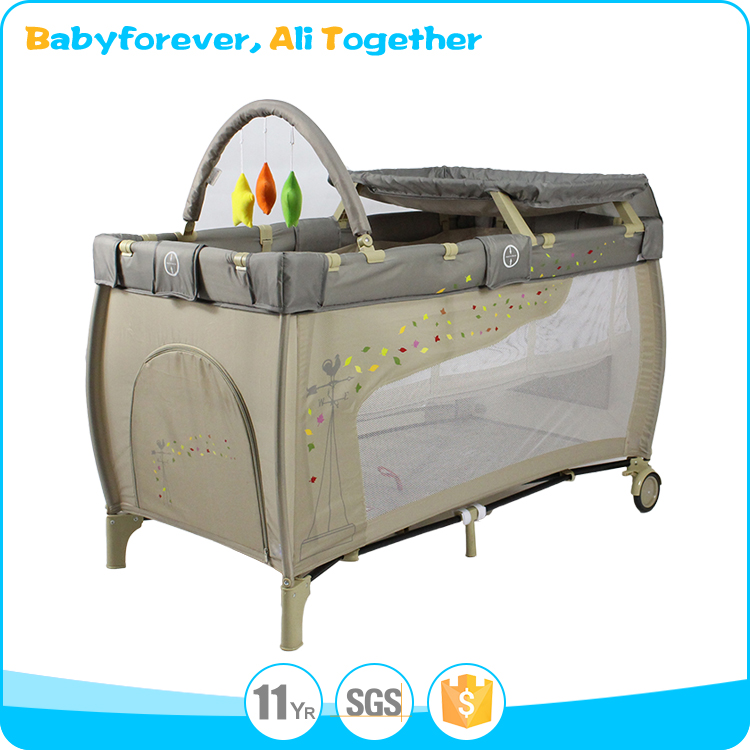 2017 Best seller travel prevent aluminum baby crib