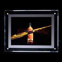 A4 acrylic LED slim crystal light box all acrylic material for beer advertising