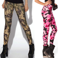 (OEM FACTORY) Wholesale Cheap Brushed Soft Knitted Stretchy Women Printed Camo Leggings
