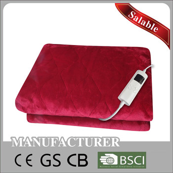 CE/GS/CB/BSCI Approved 220V-240V Automatic Timer Electric Over Blanket Electric Heated Throw