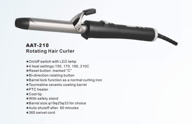 Hair salon equipment AAT-210 professional rotating curling iron