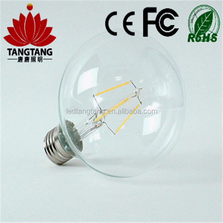 Shenzhen filament led bulbs e14 dimmable led bulbs 2700k 3200k, C37 bulb light