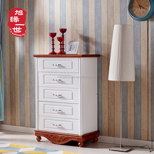 engraving design wood chest of drawers bedroom furniture