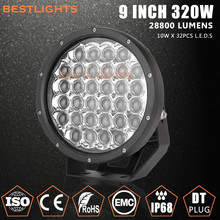 Truck Accessories Round 320W Super Bright LED Working Light, 5D Lens LED Work Lamp for All Universal Cars