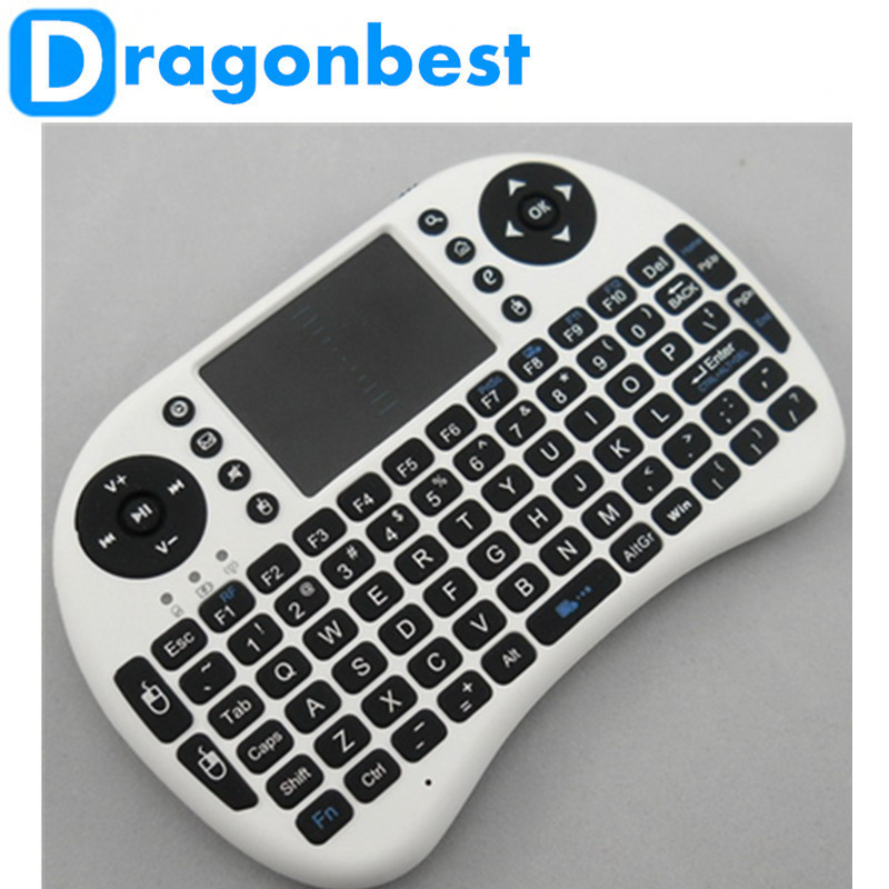 2016 Hot Sell Portable 2.4G Wireless Mini Keyboard Mini i8 Wireless 2.4G Keyboard with Touchpad For PC Pad Google Andriod TV