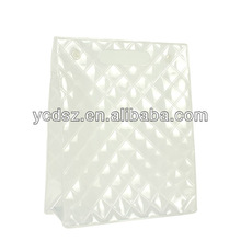 clear eco-friendly pvc cosmetic bags with button
