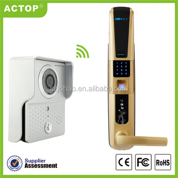 WIFI video door bell with intercom& camera,control by phone (App can be run in Android and IOS devices )