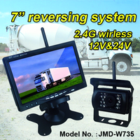 2.4G wireless reverse camera system for renault truck