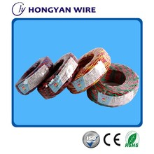 BC/CCA/CCS PVC Flexible Electric Cable Strip Wire, Red & Yellow Cross Wire 0.5mm2~4mm2